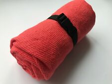 """TRAVEL Towel 100% Linen Pink Small Waffle Weave 110 cm x 180 cm (43""""x71"""") New"""