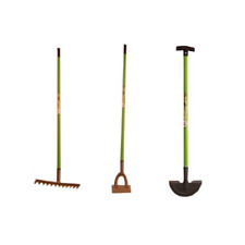 Hadley Carbon Steel Garden Tool Series - Garden Rake, Dutch Hoe and Lawn Edger