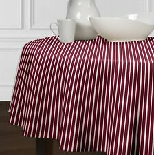 New Red & White Striped Dining Room Round Kitchen Tablecloths 72""