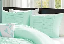 1 Pair Center Gathered PillowSham 1000 TC Egyptian Cotton Solid All Size & Color