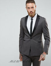 Fashion Gray Black Men's Tuxedos Suits 3 Pieces Groom Party Work Custom 2017