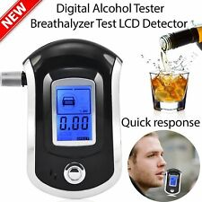 LCD Police Digital Breath Alcohol Analyzer Tester Breathalyzer Audiable CC