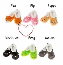 Adult animal snoozies foot covering fluffy ballet slippers