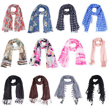 Ladies Summer Scarf Scarves Neck Wrap Shawl Beach Coverup Headscarf Stole Cape