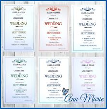 10 x WEDDING INVITATIONS CARD DAY / EVENING PERSONALISED INVITES WITH ENVELOPES