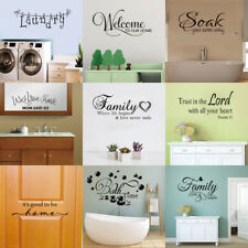 Family Quote Wall Sticker Love Lettering Words Removable Decal Home Decor Vinyl