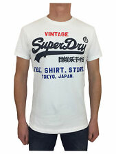 Superdry Mens Shirt Shop Tri T-Shirt in Optic White