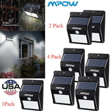 Mpow  Solar Sensor Light Powered Motion Outdoor Garden Security Wall Lamp 8LED