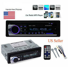 Car Stereo Audio Bluetooth In-Dash FM Aux Input Receiver SD USB MP3 Player US