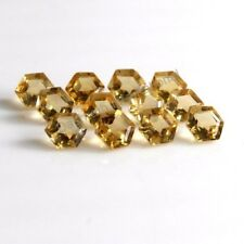 Natural Citrine Hexagon Cut 5mm Yellow Color Calibrated Size Loose Gemstone