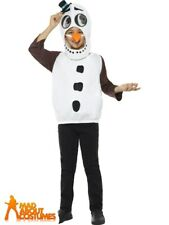 Child Deluxe Snowman Costume Boys Girls Christmas Kids Fancy Dress Outfit