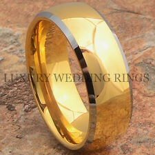 Tungsten Carbide Ring 14K Gold Wedding Band Men's Bridal Jewelry Size 6-15 LWR