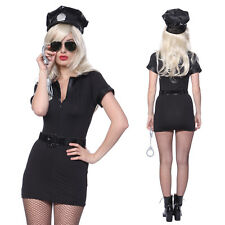 Womens Police Officer Cop Costume Policewoman Outfit Hen Party Fancy Dress
