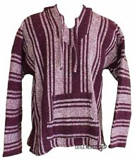 XXL Mexican BAJA HOODIE - VIOLET - Mexican PONCHO Sweater Surfer