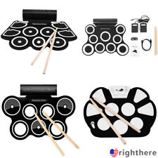 Roll up Portable 9 Pad USB 9 Pad Musical Instrument Electronic Drum Kit Kids #N