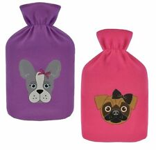 Slumberzzz Cute Dog 2 Litre Hot Water Bottle & Cover 2 Designs to Choose from