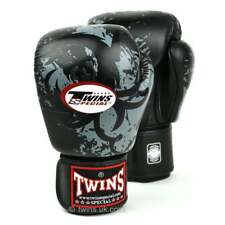 Twins Special Muay Thai Black Tribal Dragon Boxing Gloves