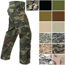Military Paratrooper Fatigues Distressed Washed Army BDU Tactical Cargo Pants