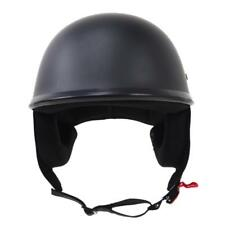 Matte Black Motorcycle Open Face Half Helmet DOT Approved with Nylon Chin Strap