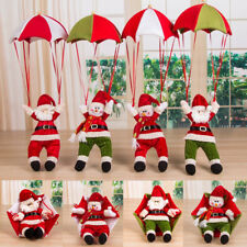 Santa Claus Christmas Home Ceiling Decoration Parachute Doll Hanging Pendant Toy