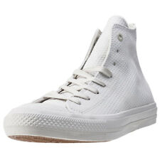 Converse Chuck Taylor All Star Ii Hi Mens White Leather Casual Trainers Lace-up