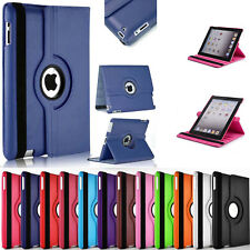 360° Rotating Leather Case Smart Cover / Screen Protector For iPad 6 Air 2