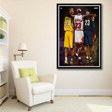 Michael Jordan Kobe Bryant Lebron James Basketball NBA Star Art Print Poster