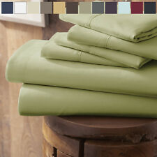 Home Collection -  Ultra Soft 4 Piece Bed Sheet Set -FREE BONUS PILLOWCASES!