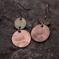 1 Pair Women's Vintage Bronze Silver Retro Long Earrings Drop Dangle Jewellery