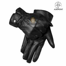 Mens Man Leather Gloves Soft Warm Winter Driving Glove Thermal Thinsulate Lining