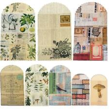 6x Paper Envelopes Vintage European Style Airmail for Invitation Greeting Cards