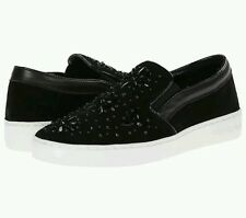 NEW! MICHAEL Michael Kors Flat Slip On Embellished Sneakers - Nadine Size 10