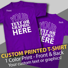 Personalized Custom T-Shirt, Printed with Your Text or Graphic, 2 sides