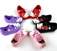 Mini Melissa Inspired Girls Shoes Jelly HELLO KITTY Sandals Shoes EUR 24-29 NEW