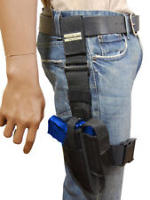 New Barsony Tactical Leg Holster w/ Mag Pouch Taurus Compact 9mm 40 45