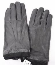Mens Wearhouse Mens Winter Driving Leather Gloves Black