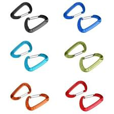 2Pcs 5KN Aluminum Wiregate Carabiners Spring Clip Hook Keychain Camping Outdoor