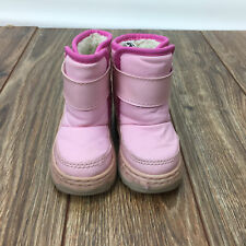 Shoes Winter Boots Toddler Girl Boy Size 6 7 Circo OshKosh Pink Brown Suede