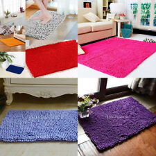 Doormat Bedroom Rectangle Shape Carpet Fluffy Chenille Bath Rug Mat Pad Cushion