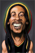 Canvas print Bob Marley - Rob Snow | caricatures
