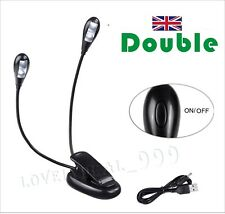 LED Travel Light Flexi Clip On Torch Bright Night Book Camping Reading Lamp UK