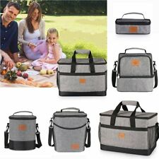 Tote Cold Insulated Lunch Bag Thermal Cooler Travel Picnic Food Safe Container M