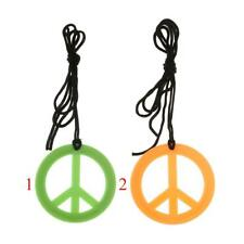 Novelty Peace Sign Symbol Pendent Cord Rope Hippie Adult Unisex Necklace Jewelry