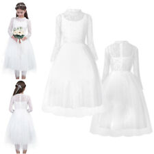 Flower Girl Dress Lace Flower Wedding Bridesmaid Formal Party Pageant Dress 4-14