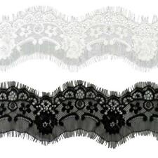 3 Yards 75mm Eyelash Lace Trim Ribbon Bridal Dressmaking Underwear Sewing Craft