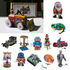 Retro Classic Mechanical Clockwork Wind Up Toy Robot Tin Toy Home Decor Kid Gift