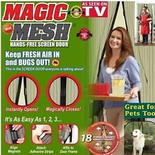 NEW Magic Mesh Hands-Free Screen Net Magnetic Anti Mosquito Bug Door Curtain GB