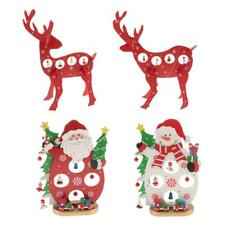 Christmas Ornaments Santa Claus Snowman with Bells Hanging Home Party Decoration
