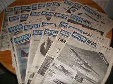 CHOICE 13 ISSUES AVIATION NEWS AIRCRAFT PLANES AEROPLANES SCALE PLANS 1975-76 V4
