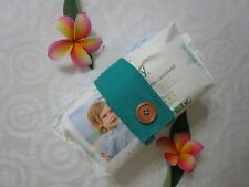 Nappy strap-Keeps nappies and wipes together-Jade-100% cotton or polycotton.